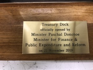 Treasury Dock Official Opening Plaque Cast